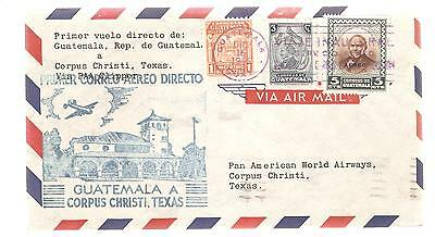 GUATEMALA  1940 Airmail cover    various stamps