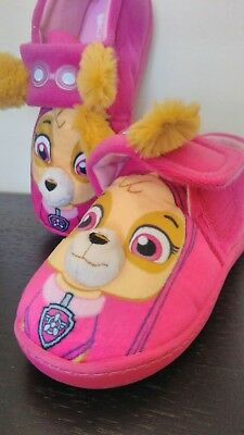 Paw Patrol Slippers 3D SKYE Pink Strap Girls  Nickelodeon,  Spin Master 12-13 UK