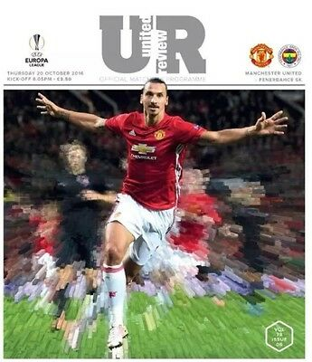 Manchester United Vs Fenerbahce SK Official Match Day Programme 20/10/16
