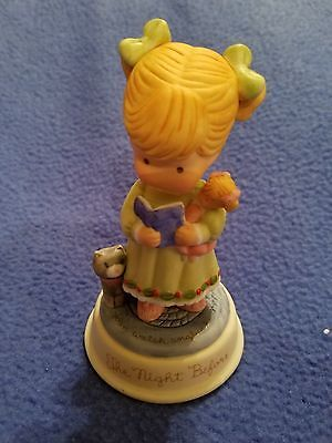 Vtg JOAN WALSH ANGLUND The Night Before CHRISTMAS GIRL FIGURINE Cat & Doll
