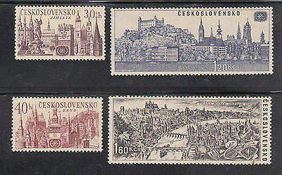 Czechoslovakia - Cities Set Mounted Mint