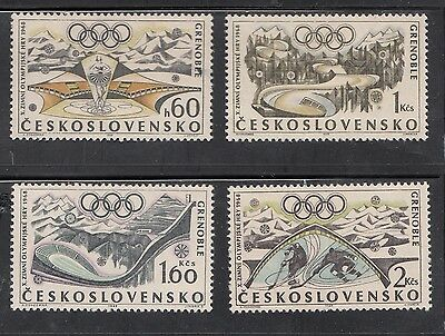 Czechoslovakia - 1968 Olympics Set Mounted Mint