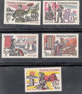 Czechoslovakia - 1965 Liberation Set Mounted Mint