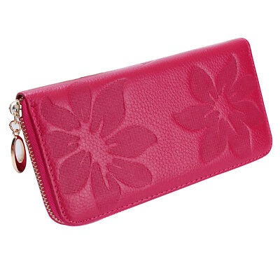 Fashion Women Lady Leather Clutch Wallet Long Card Holder Case Purse Bag ROSERED