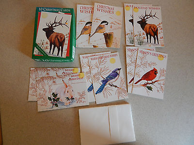 Box of 10 Vintage Christmas Cards By Fantus Fantusy Unused New Old Stock #B
