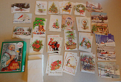 Box of 48 Vintage Christmas Cards By Greenacre Workship New Old Stock #K
