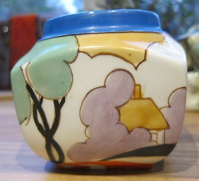"""""""Autumn pattern shape 516"""" made in Japan 1930s copy of Clarice Cliff"""