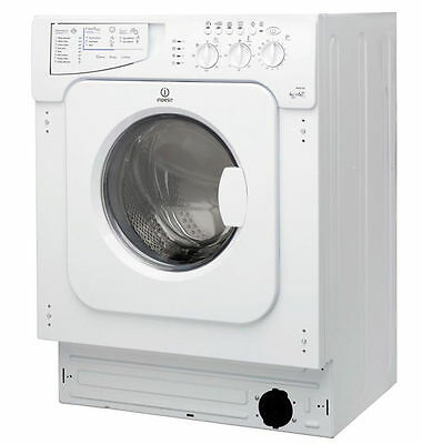 Indesit IWDE126 1200 Spin 6+5 Kg 13 Programmes, Integrated Washer Dryer in White