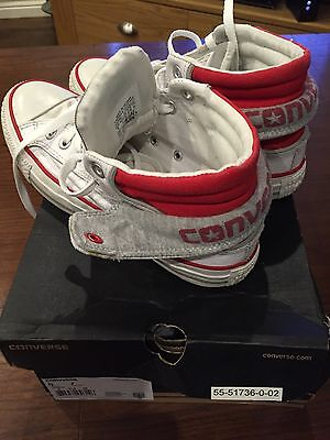 Converse All Star White Leather Hi Tops Size Uk 5