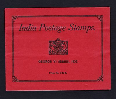INDIA 1937 BOOKLET WITH STAMPS TO 1r.