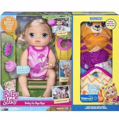 BABY ALIVE BABY GO BYE BYE BLONDE DOLL EXCLUSIVE WALMART Tiger Clothes FREE SHIP