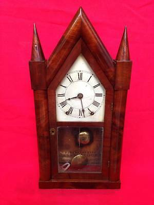 Stunning Antique Early Brewster & Ingraham Steeple Clock - 1845