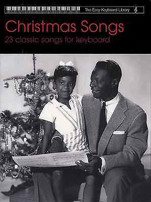 CHRISTMAS SONGS & CAROLS For Easy Keyboard Sheet Music Book - 23 Tunes Songbook