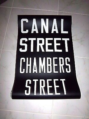Vintage Nyc Subway R32 Collectible Roll Sign Canal Chambers Street Manhattan Ny