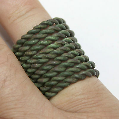 ancient Viking. Twisted bronze finger ring GREAT CONDITION. You can use.