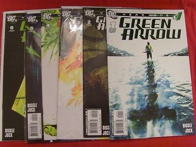 Green Arrow Year One 1-6 Dc Comic Set Complete 1St Prints Andy Diggle Jock 2007