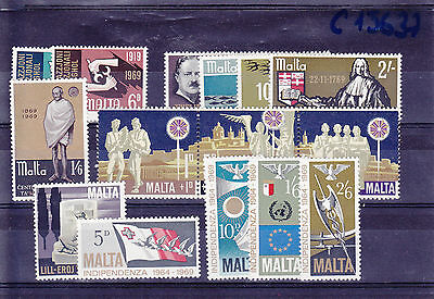 1969 Malta MNH - All stamps of year