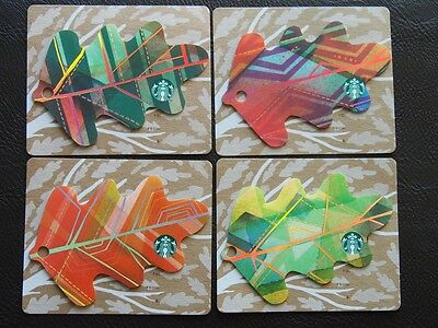 4 mexico starbucks mint gift cards - autumn leaves