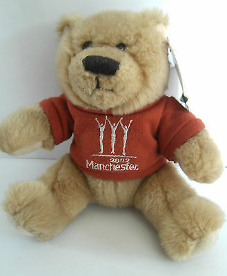 Teddy bear Manchester 2002 Commonwealth Games good condition