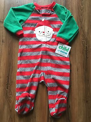Nwt Carters 0-3 Months Christmas Sleeper Sanata Footed One Piece Pajamas