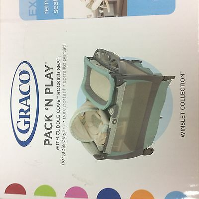 Graco Pack 'n Play Playard Bassinet Changer with Cuddle Cove Rocking  Winslet