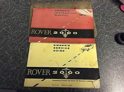 Rover 2000 Classic Car Owners Manual & Service Guide1963