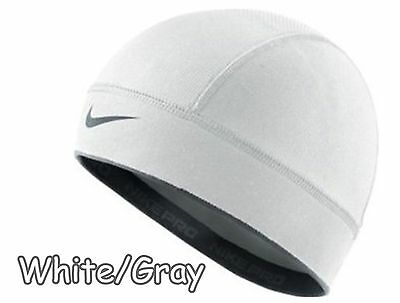 New Nike Pro Hat Beanie Lebron Compression Dri Fit White One Size Running Skully
