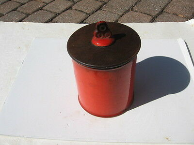 Vintage Metlox Poppytrail Red Rooster Canister
