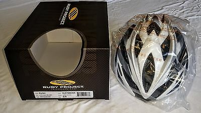 Rudy Project RUSH Cycling Helmet Size S/M - White/Silver