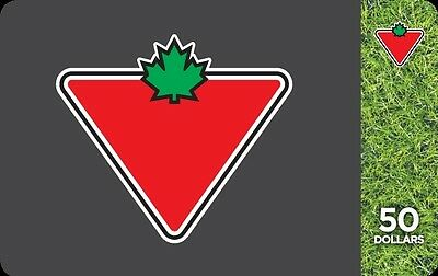 $50 Canadian Tire Gift Card with Free Shipping!