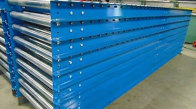 30 INCH STRAIGHT RAIL GRAVITY CONVEYOR 10' Bed Sections