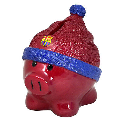 Official Licensed Football Product FC Barcelona Beanie Piggy Bank Gift Fun New