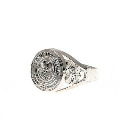 Official Licensed Football Product Celtic FC Silver Plated Crest Ring Large Gift