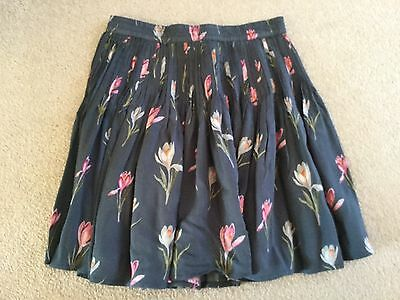 Girls Next flower pattern pleated skirt size 8 years BNWT