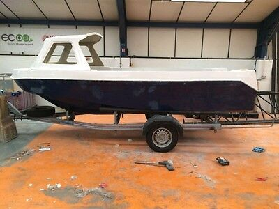 Sea Swift 500 Fishing Boat Unfinished Project With Trailer