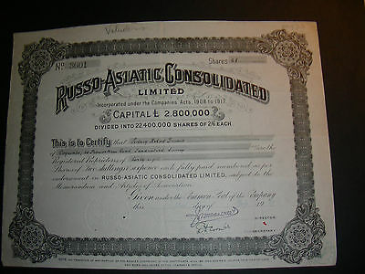 Russo-Asiatic consolidated Ltd. 1929