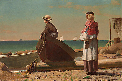 On the Stile 1878 by Winslow Homer Art Print Child Children Fence Poster 11x14