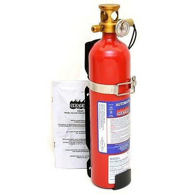 Sea-Fire FG-100A Red 3 1/2 x 16 Inch Marine Boat Automatic Fire Extinguisher