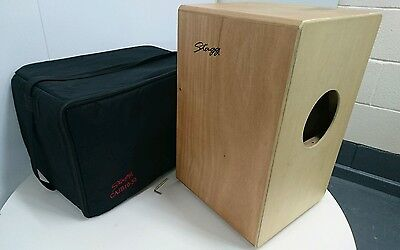 STAGG CAJON Drum CAJB 10-50 with black padded bag case Natural