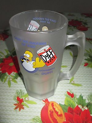 Homer Simpson Very Large Duff Frosted Beer Mug