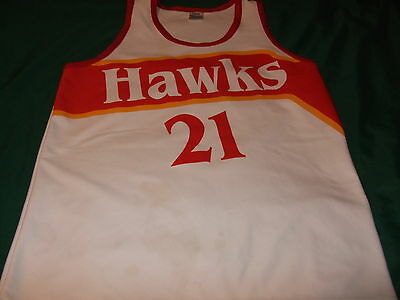 Dominique Wilkins Atlanta Hawks basketball jersey L NBA throwback 80s VINTAGE