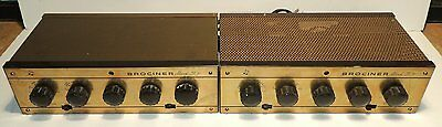 Pair Brociner Mark 30C Tube Preamplifiers To Drive Western Electric 124 Amps