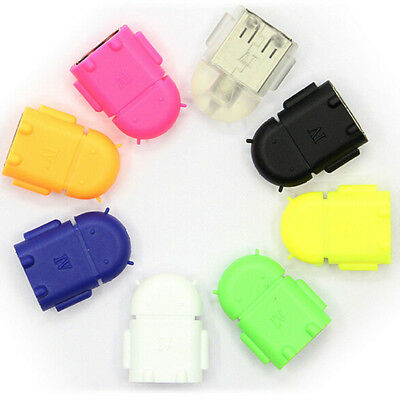 Android Robot Shape Micro Mini USB OTG Adapter Cable For Tablet PC MP3/MP4 Phone