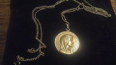 Our Lady of Lourdes Relic Grotto St Saint Mary Pendant Coin
