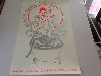Hampton Black Rebel Motorcycle Club poster Glow In The Dark variant #26 of 30 U2