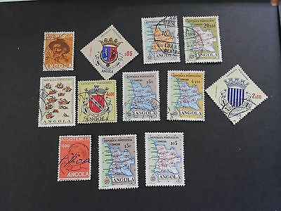 ANGOLA 12 Various Stamps