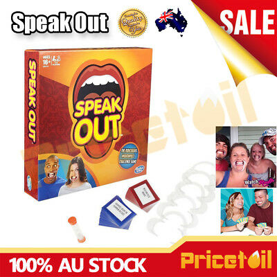 New Speak Out Board Family Party Game Mouthguard Challenge Xmas Adult Gift Toy