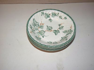 5 BHS country vine cereal bowls green