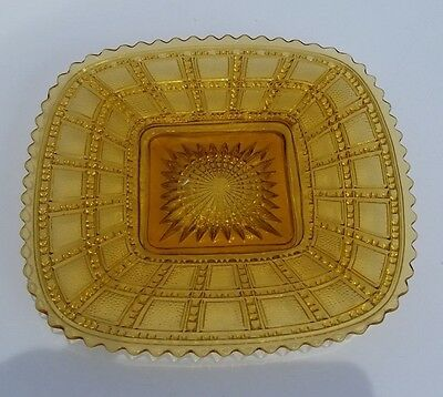 Vintage 8 inch Square Yellow Plate - Imperial?