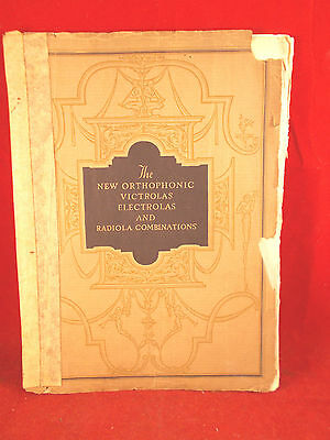 Catalog 1930s-40s The New Orthophonic Victorolas and Radiola Price Guide